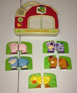LeapFrog Preschool Fridge Farm Magnetic Animal Set-COMPLETE