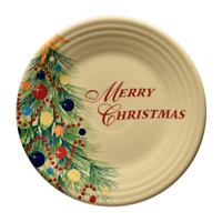 "Fiesta Dinnerware 9"" Luncheon Plate - Merry Christmas"