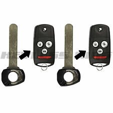 2 Replacement Fob Remote Car Flip Key Blade for Acura MDX RDX TL TSX ZDX