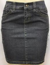 New Dkny Jeans Juniors Premium Fashion Stretch Denin Skirt Rhinestones