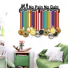 3 Tier Metal Personalised Medal No Pain No Gain Running Hanger Holder Rack