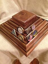 US Marine Corps Army Navy Airforce Challenge Coin Holder Poker Chip Display