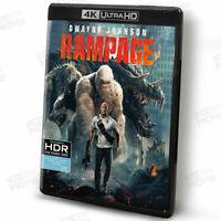 Rampage (2018) 4K Ultra HD + Blu-ray 2 Discs w/ Dwayne Johnson, Naomie Harris
