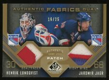 2007-08 SP Game Used Edition Henrik Lundqvist Jaromir Jagr Dual Patch 16/25