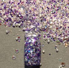 glitter mix acrylic gel nail art  DIAMONDS AND PEARLS
