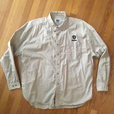 Vintage Lee Sport Mens RAIDERS Shirt Long Sleeve Button Front Oakland XXL