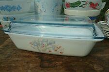 Vintage Pyrex Rectangular Space Saver Blue Iris Casserole Dish Bake Roast VGC