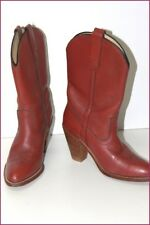 FRYE Mid Boots All Brown Leather Mahogany T 7.5 B US / T 39 VERY GOOD CONDITION
