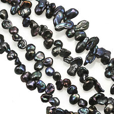 Peacock Blue Black Keishi Freshwater Loose Pearls for Jewellery Making 5-6mm