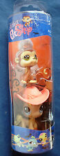 Littlest Pet Shop tube Halloween angel monkey & blue eye pony w/hat