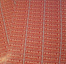 500 x FRAGILE HANDLE WITH CARE Labels Stickers 38mm long x 10mm