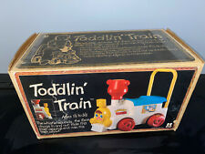 1979 Tomy Toddlin' Train whistling push train-vintage Ride On New in Box