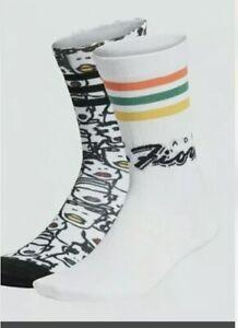 ADIDAS Originals x Fiorucci Socks Size Medium 2 Pack FL9637 NWT Sold Out Rare