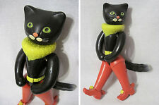 Russian Vintage Doll/Toy,Black Cat,Celluloid,Marked Pavlograd,USSR,60's