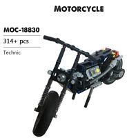 Motorcycle Building Blocks Set Technical Model Bricks Educational Toys 314pcs