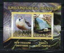 KL5939 MNH 2009 Imperf Sheet of 2 Endangered Species Turtle Bird Souvenir Sheet