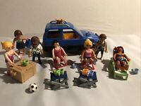 Playmobil Beach Holiday Bundle Job Lot With 7 Peaple / Car / Cat And Accessories