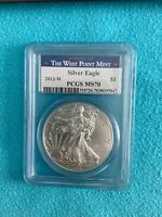 2013W Silver Eagle MS70 Burnished PCGS West Point Label Beauty!