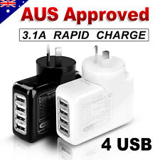 4 USB AC Wall Charger Plug for Apple iPhone X 8 6S 7 Plus iPad 9.7 Air mini 3 4