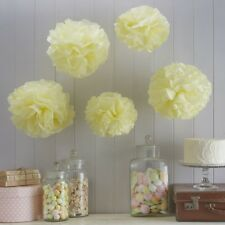 TISSUE PAPER POM POMS -YELLOW/Wedding Deco,Baby Shower,Birthday,Party Decoration