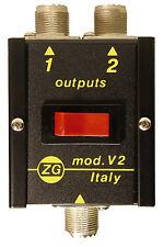 Zetagi V2 Antenna Switch. CB Ham Amateur switcher aerial 2 way