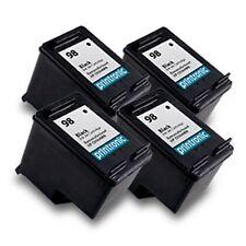 4PK HP 98 Ink Cartridge Black C9364WN DesignJet 5940 OfficeJet H470 100 150 6310