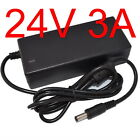 AC 100V-240V Converter Adapter DC 24V 3A / 3000mA 72W Power Supply Charger 5.5mm