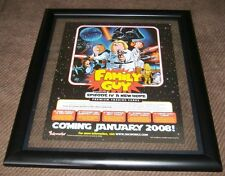 """Family Guy: Mini Poster -Sell Sheet A new Hope /Double Sided 8-1/2"""" X 11"""" Framed"""