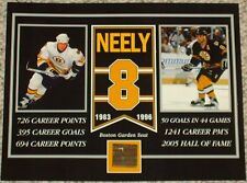 CAM NEELY BOSTON BRUINS BOSTON GARDEN SEAT 8 X 10 COA