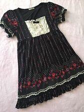 AXES FEMME Lace Rose Black Dot Dress Women's S~M Japan Gyaru Lolita Liz Lisa
