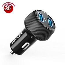 Anker Ultra Compact 24W Twin Port Car Charger Power Drive And IQ 2 Elite New