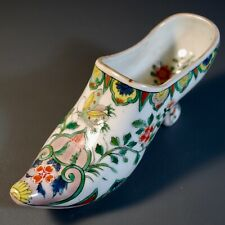 Chinese Antique Export Porcelain European Style Shoe, Famille Vert Qing Dynasty