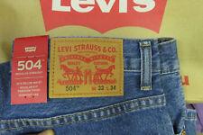 LEVI'S 504 STONEWASH Regular Straight Jeans, Authentic BRAND NEW (005040207)