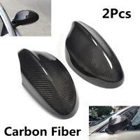 2Pcs Carbon Fiber Rearview Side Mirror Cover Caps For BMW Pre-facelift E90 05-08