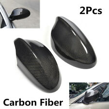 2Pcs Carbon Fiber Rearview Side Mirror Cover Caps For BMW Pre-facelift E90 05-08
