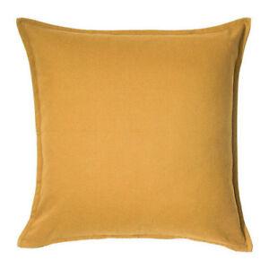 "IKEA GURLI CUSHION COVER SQUARE 20X20"" GOLDEN YELLOW MAIZE 100% COTTON NEW FRESH"