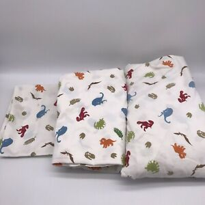 TARGET CIRCO KIDS DINOSAUR STOMP N' ROAR SHEET SET TWIN SIZE 3 Pieces EUC G9