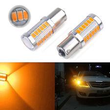 2x Amber Yellow P21W 1156 BA15S LED Bulb 5730 33SMD Car Turn Signal Light bulb