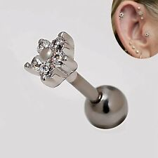 2pcs 16g Rhinestone 4.7mm Flower Star Cartilage Earrings Helix Ear Stud Piercing