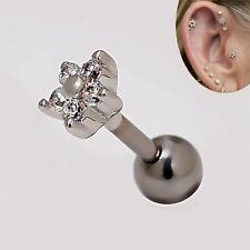 2pcs 16g Rhinestone 4.7mm Flower Star Cartilage Earrings Helix Ear Stud Piercing