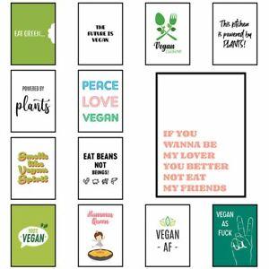 Vegan Sayings and Quotes Posters and Veganism Prints Vegan Home Décor Artwork