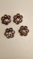 A001 Swarovski Violet Rhinestone components 12mm Multi Part 6 Stone Sweet !