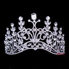 Luxus 7cm hoch Königin Hochzeit Braut Haarschmuck Haarreif Krone Diademe Tiara