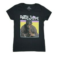 Tupac 2pac Poetic Justice Movie T-Shirt Black Juniors Girls 100% Authentic NWT