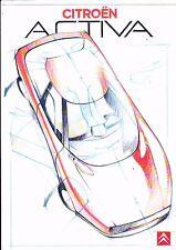 CITROEN ACTIVA Concept Car brochure - 1987 - mint