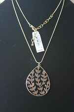 Pendant Necklace on Medium Gold Colored Chain New With Tags
