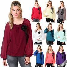 Long Sleeve Polyester Blouse Plus Size for Women