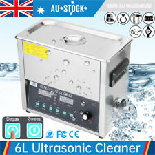 Upgraded 6L Digital Ultrasonic Cleaner Heater Timer Cleaning Tank Degas Sweep