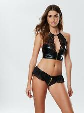 Ann Summers Womens Tasha Set Faux Leather And Lace Sexy Lingerie Underwear