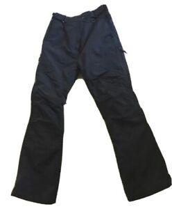 Ladies Black Waterproof Padded Ski Trousers Size 12 By Alpine